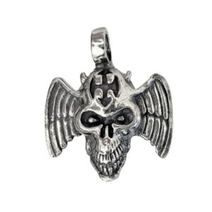 Pendant flying skull