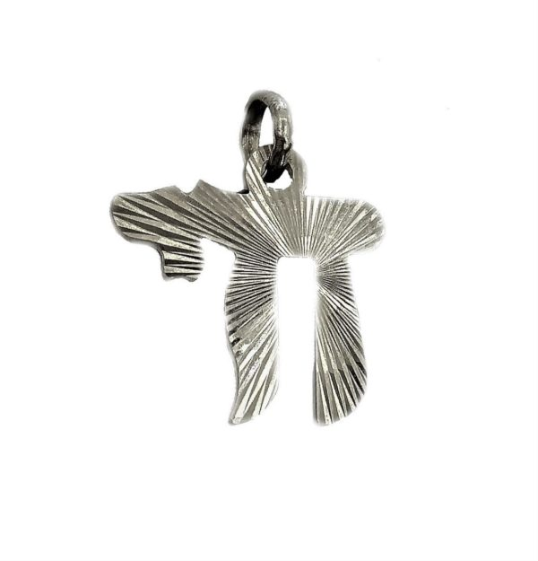 Judaica Pendant symbol luck J2117as