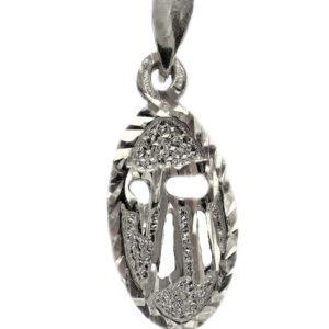 Judaica Pendant symbol luck j2115as