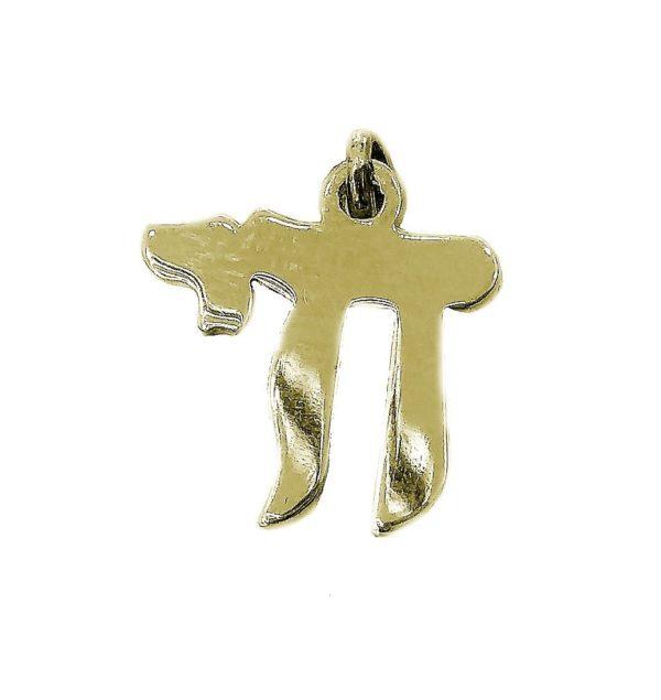 Judaica Pendant symbol luck j2116cz