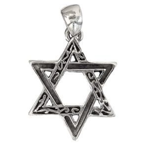 Magen David Pendant j2107a Judaica star