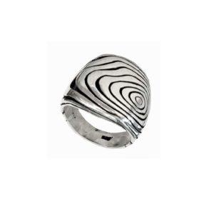 signet ring men ornament Damascus steel