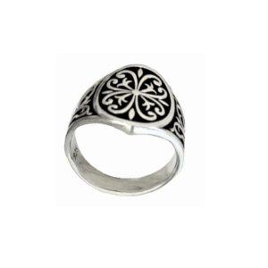 Oval signet ring men ornament 1587