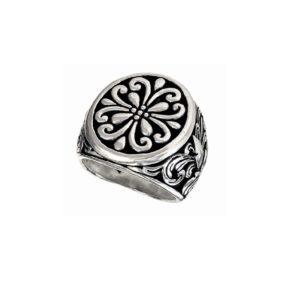 Oval signet ring pattern men 1589