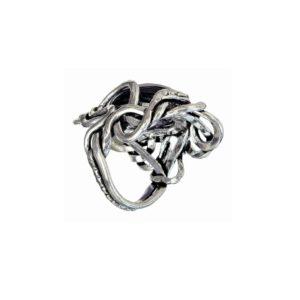 Ring women Snake Hugging Purple Stone