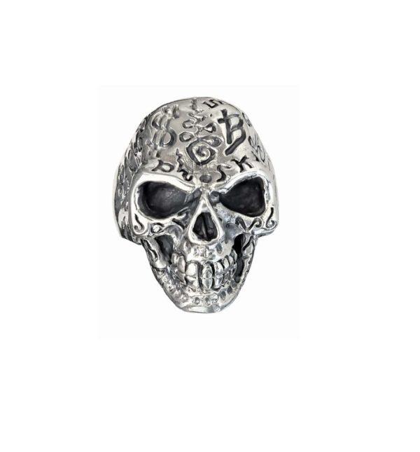 Biker Ring men skull 1592
