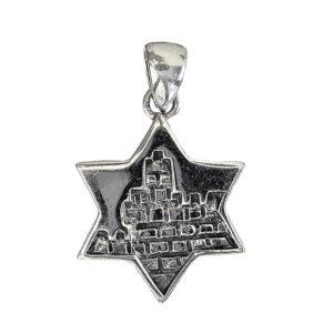 Magen David Pendant j2109 Judaica star