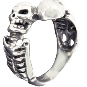 Ring men Two necklace skeleton