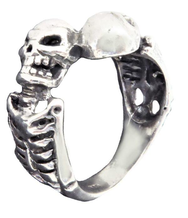 Ring men Two necklace skeleton