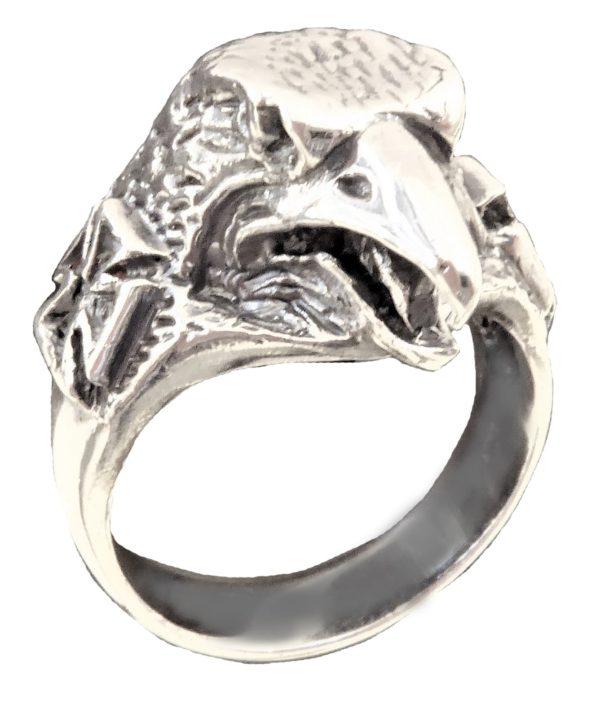 Ring men Head German Kaiser Eagle