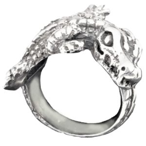 Ring unisex Large Crocodil