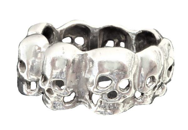 Ring men necklace skull
