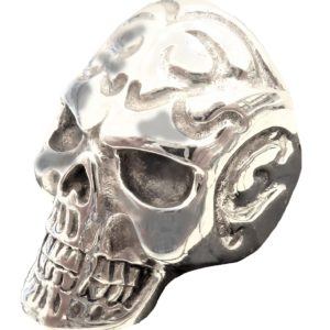 Ring men skull with pattern