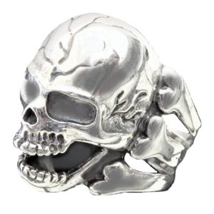 Ring men skull with bones