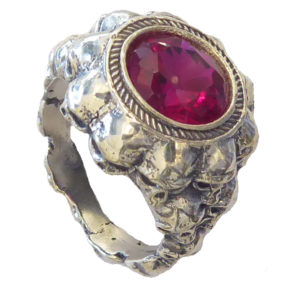 men Ring #1622b Ruby