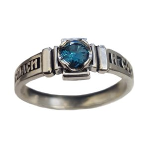 Band Ring Orthodox Topaz