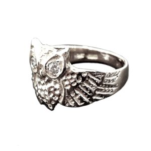 OWL Ring eyes white zircon