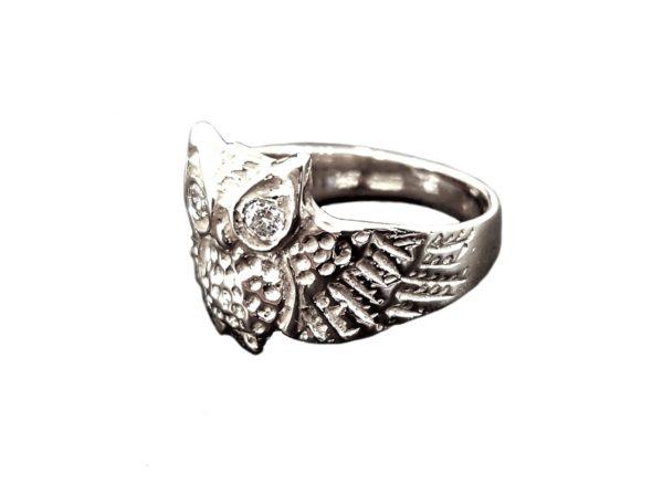 OWL Ring eyes white zircon