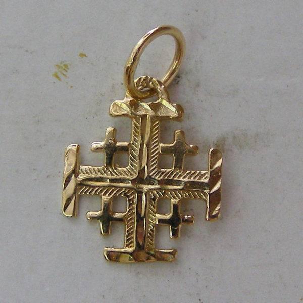 Jerusalem templar cross pilgrim pendant red gold 585 solid a87b jerusalem templar cross pilgrim pendant mozeypictures Image collections