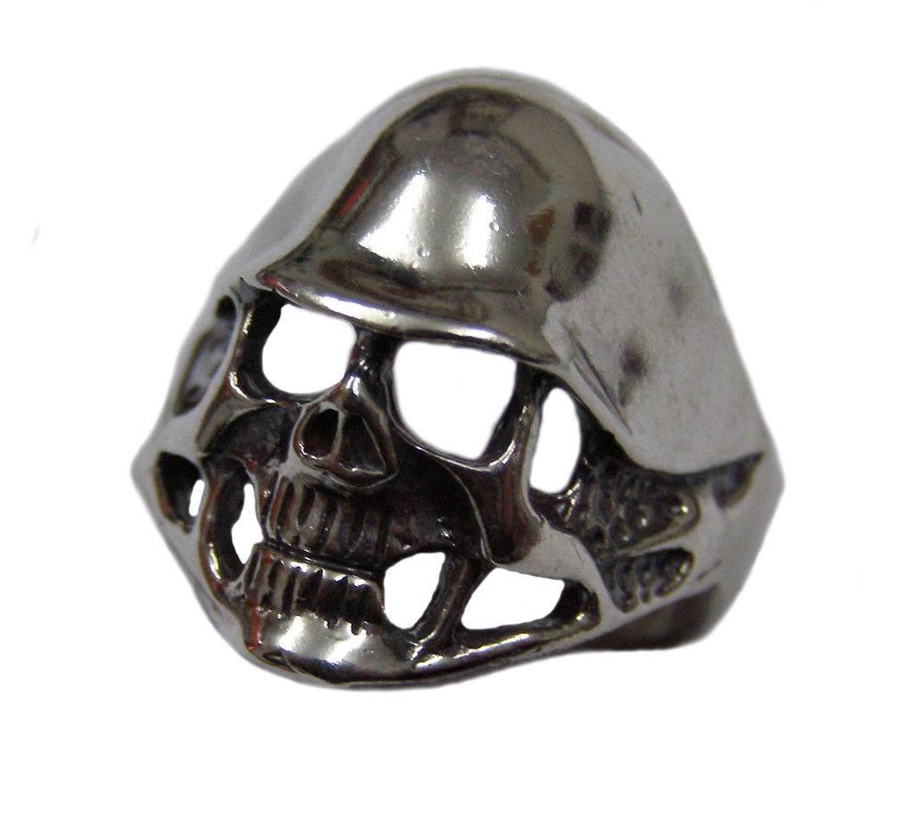 ring soldier harley davidson skull 1088 sterling silver. Black Bedroom Furniture Sets. Home Design Ideas