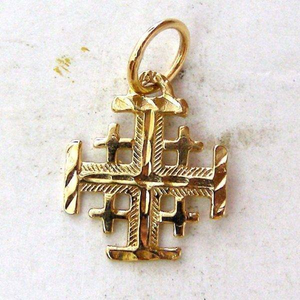 Jerusalem templar cross pilgrim pendant yellow gold 585 solid a87b jerusalem templar cross pilgrim pendant aloadofball Image collections